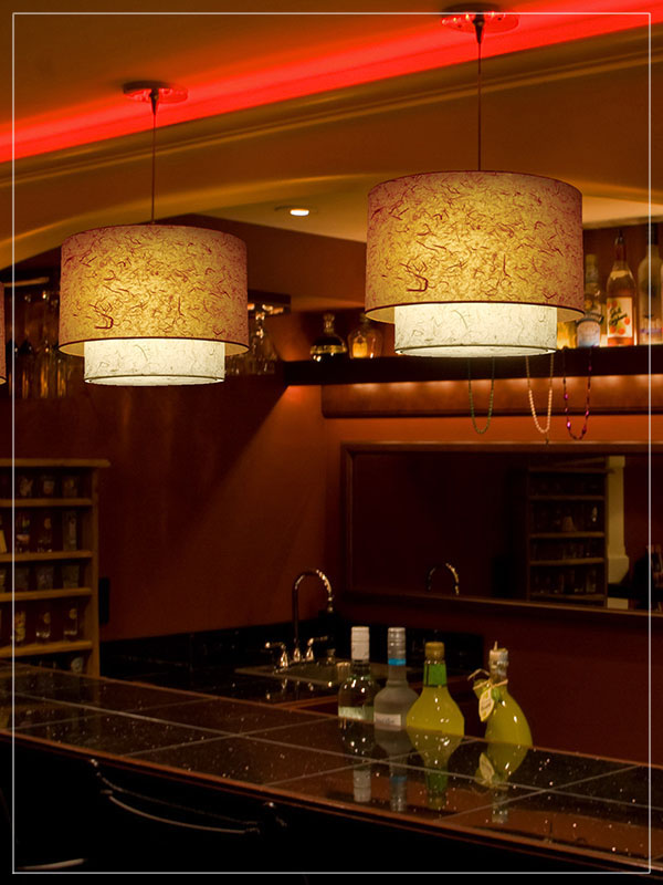 Pendant Light Fixture Twin KK in a cafeteria bar