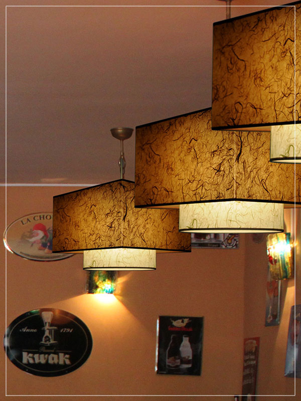 Pendant Light Fixture Twin TK in a Restaurant.