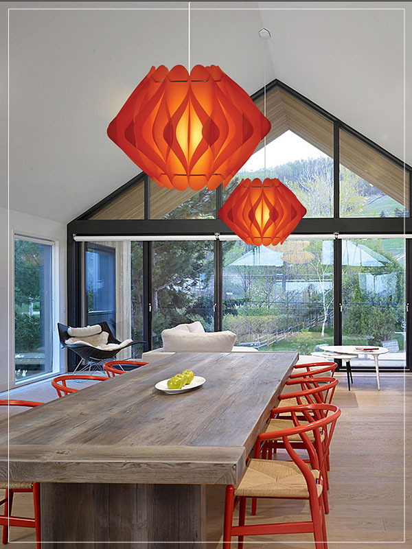 Modern Red Lamp Shade Ravena in a house.