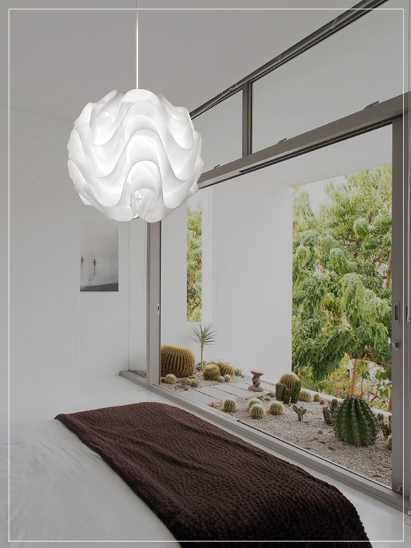 Pendant Lamp Shade in a Living Room.