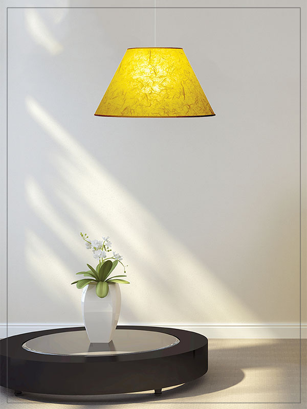 Mulberry Cone Lamp Shade in a house.
