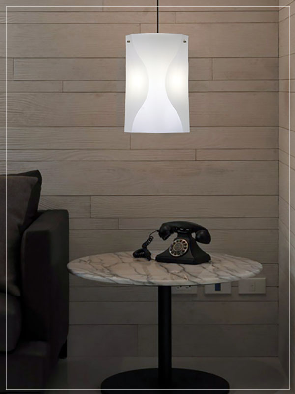 Modern Modular Pendant light fixture Venus in a house.