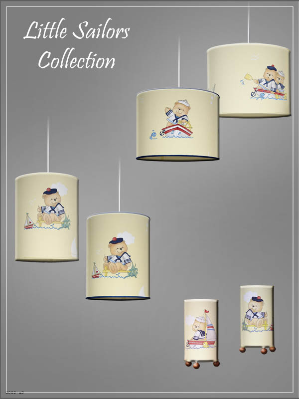 Pendant Children's Lampshades Sailor Cartoon in a nursery.
