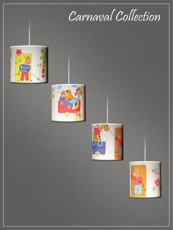 Pendant Children's Lampshades Carnaval Cartoon