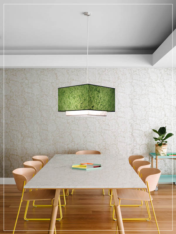 Pendant Light Fixture Twin ΤΤ in a dining room.